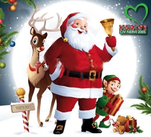Babbo Natale E Gli Elfi.Oggi Babbo Natale E In Piazza Pittaluga Il Nerviese